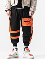 51b9defbd11 Недорогие Мужские брюки и шорты-Муж. Уличный стиль Чино Брюки - Однотонный  Красный