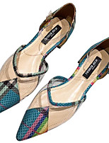 cbcfa82051da billige Sandaler til damer-Dame PU Sommer Afslappet Sandaler Kraftige Hæle  Spidstå Grå   Grøn