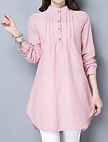 5b3cf6d1211a Χαμηλού Κόστους Γυναικείες Μπλούζες-Γυναικεία Πουκάμισο Βαμβάκι Ριγέ Λεπτό