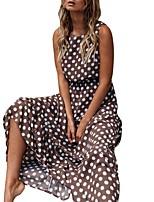 eb884677e0f1 levne Dámské šaty-Dámské Základní Swing Šaty - Puntíky Maxi