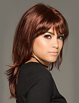 4d5ea1767c7 billige Parykker & hair extensions-Syntetiske parykker Naturlig lige  Stil Med bangs / pandehår