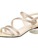 a39ff8f8c2b67 رخيصةأون أحذية النساء-نسائي المواد التركيبية الخريف   للربيع والصيف حلو    بريطاني صنادل كعب