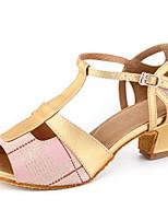 8698764f430 Χαμηλού Κόστους Παπούτσια Χορού-Γυναικεία Παπούτσια χορού λάτιν Φο Δέρμα  Τακούνια Πυκνό τακούνι Εξατομικευμένο Παπούτσια