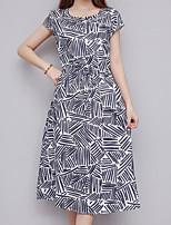 e6a02d0fa0e3 economico Vestiti da donna-Per donna Moda città Tubino Vestito - Con  stampe