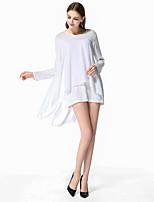 5bb7a2508a olcso Női ruhák-Női Alap Elegáns Egyenes Ruha - Többrétegű Kollázs,  Egyszínű Aszimmetrikus