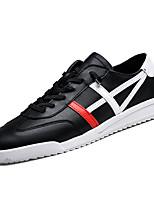 69a1896eb رخيصةأون أحذية الرجال-رجالي أحذية الراحة PU الربيع كاجوال أحذية رياضية  المشي متنفس أسود /