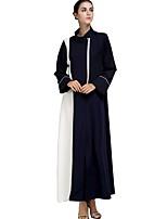 economico -Abbigliamento tradizionale e culturale Abaya Per donna Da tutti i giorni Poliestere Più materiali Manica lunga Abaya