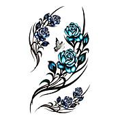 #(5) Tatoveringsklistermærker Blomster Serier Mønster VandtætDame Pige Teenager Flash tatovering Midlertidige Tatoveringer