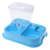 Alimentos para mascotas y Tazón alimentador de agua para perros, gatos (colores surtidos)