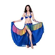 trajes de danza del vientre estilo spandex sin mangas de satén de las mujeres