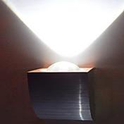 Luz LED de pared moderna 1W con dispersión de la luz en abanico