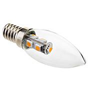 1w e14 led luces de vela c35 7 smd 5050 70lm blanco cálido 2800k decorativo ac 220-240v