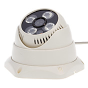 CCTV 1/4インチCMOS 800TVL屋内ドームカメラ(4アレイのLED、IR-カット)