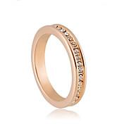 aleación de alta calidad 18k chapado en oro con estilo elegante anillo de cristal