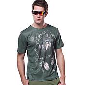 男性用 ハイキング Tシャツ アウトドア 速乾性 抗紫外線 高通気性 Tシャツ トップス キャンピング&ハイキング 釣り 登山 レーシング レジャースポーツ ビーチ