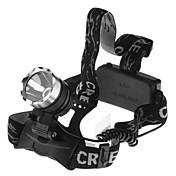 3 ヘッドランプ ヘッドライト LED 1600 lm 1 モード バッテリー付き 防水 キャンプ/ハイキング/ケイビング サイクリング 釣り ワーキング 登山