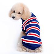 Perro Suéteres Ropa para Perro Rayas Azul Oscuro Disfraz Para mascotas