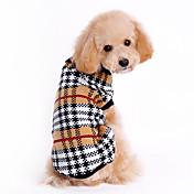 猫用品 / 犬用品 セーター ブラウン 犬用ウェア 冬 / 春/秋 格子柄 クラシック / 保温