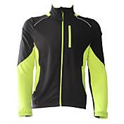 Jaggad Chaqueta de Ciclismo Hombre Manga Larga Bicicleta Chaquetas de Lana / Vellones Camiseta/Maillot Chaqueta Top Secado rápido