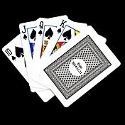 ポーカー用のカードを再生するパーソナライズされたギフトグレーチェック柄