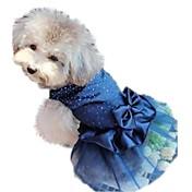Gato Perro Vestidos Ropa para Perro Cumpleaños Vacaciones Boda Lentejuelas Rojo Azul Dorado Disfraz Para mascotas