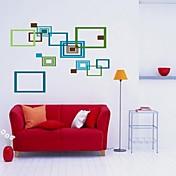 Createforlife ® Colorful Abstract Frames Niños Parvulario etiqueta de la pared la pared del arte Tatuajes