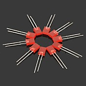 ABS Light Emitting Diode - rojo (10PCS)
