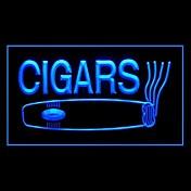 葉巻キューバ産の広告は、光のサインを導いた