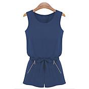 JINHU女性のファッションノースリーブジャンプスーツ