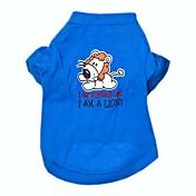 Perro Camiseta Ropa para Perro Letra y Número Azul Algodón Disfraz Para mascotas Cosplay Boda