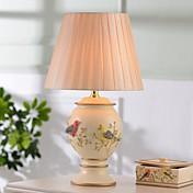 pájaros hoshine®& lámpara de mesa de flores florero 1 resina moderna novedad beige claro amarilla