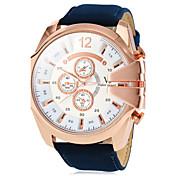 V6 Hombre Reloj Militar / Reloj de Pulsera Reloj Casual PU Banda Encanto Marrón / Verde / Azul marino / Dos año / Mitsubishi LR626