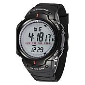 Hombre Reloj Deportivo Reloj de Pulsera Digital Despertador Calendario Cronógrafo Resistente al Agua LED LCD Cronómetro Caucho Banda Cool