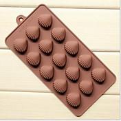 5 rupa Xian bei opeklina oblik glazura mliječ čokolada kalupi, silikonska 21,5 × 10,5 × 1,8 cm (8,5 × 4,1 × 0,7 inča)