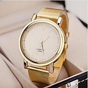 Mujer Reloj de Pulsera Reloj de Vestir Reloj de Moda Cuarzo Reloj Casual Aleación Banda Encanto Dorado