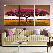 キャンバス地プリント キャンバスセット 花柄/植物の 近代の,3枚 キャンバス 横式 プリント 壁の装飾 For ホームデコレーション