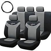 チロルユニバーサルカーシートは、クロスオーバーSUVのセダン用の10個/セットグレーフロント背面カバーをカバー