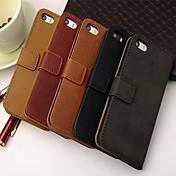 iphone 5 / 5S用のスタンドとカードスロットと財布のスタイルPUレザーフルボディケース