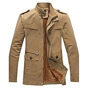 la moda de las k-Shuai hombres collar del soporte del color sólido chaqueta bodycon ocio