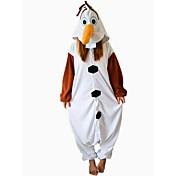 Kigurumi Pyjamas Snemand Trikot/Heldragtskostumer Festival/Højtider Nattøj Med Dyr Halloween Brun Patchwork Polarfleece Kigurumi Til