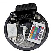 W フレキシブルLEDライトストリップ ライトセット RGBストリップライト lm AC100-240 5 m LEDの RGB