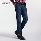 Lesmart® Men's Casual Cat to be Washed Jeans Straight Jeans Wear White Wrinkled