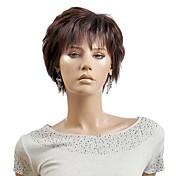 明るい茶色の女性の女性の短い人工毛のかつら