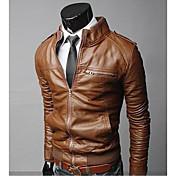 soporte de motocicletas cuello de la chaqueta de cuero de la PU