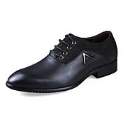 Hombre Zapatos Cuero Primavera Otoño Invierno Confort Oxfords Para Casual Bronceado Negro Marrón