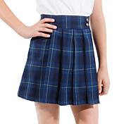 学校の制服女子ダークブルータッターソールプリーツスカート