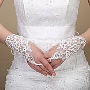 guante de tul longitud guante guantes nupciales estilo femenino clásico