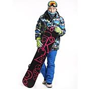 Hombre Chaqueta y pantalones de Esquí Al aire libre Invierno Impermeable Mantiene abrigado Resistente al Viento A prueba de polvo Listo