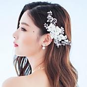 Mulheres Strass Crostal Liga Tecido Capacete-Casamento Ocasião Especial Ao ar Livre Flores Prendedor de Cabelo