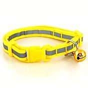 犬 カラー 調整可能 / 引き込み式 反射 ベル 縞柄 ナイロン Brown レッド グリーン ブルー ピンク